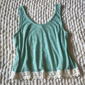 Forever 21 Flowy tank top with lace trim size 2XL